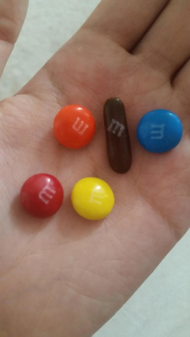 And finally, whoever was in charge of the brown M&Ms.