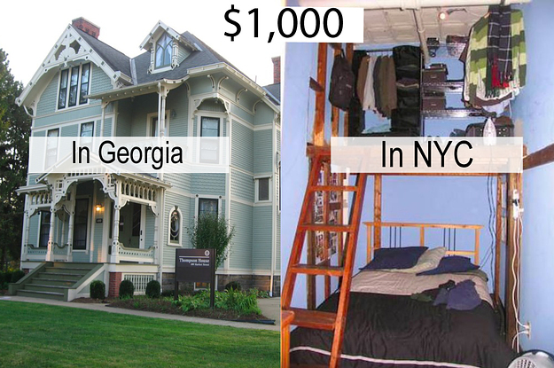 This Is What $1,000 A Month In Rent Would Get You All Around The US