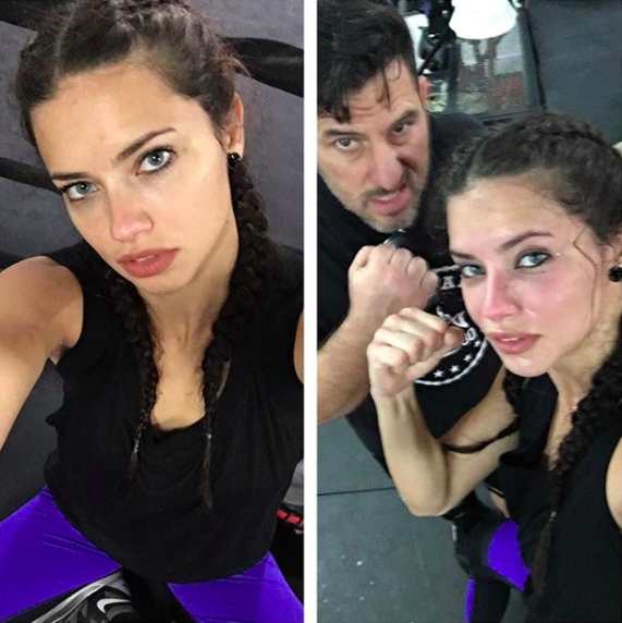 Who knew that Adriana Lima could knock you out just as quick as she could take a selfie?!