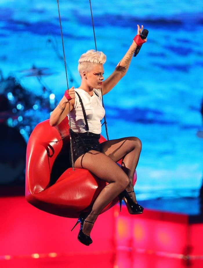 Soaring high, yet again, at the 2012 MTV VMAs.