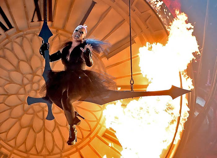 Remember the 2016 Billboard Awards when she flew in front of FIRE?!