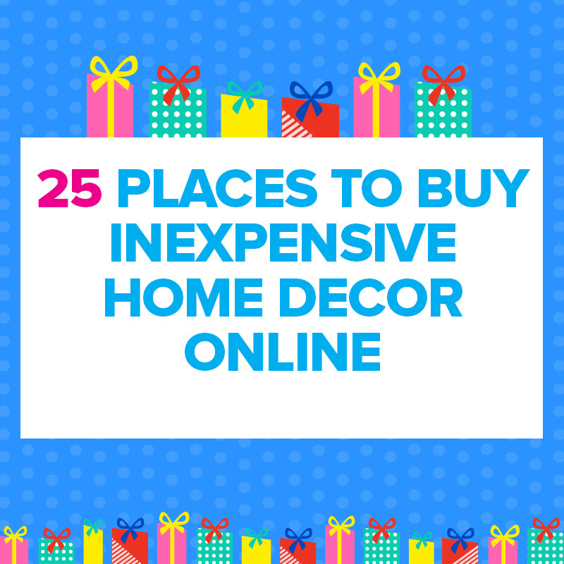 25 cheap places to shop for home decor online for Cheap places to get home decor