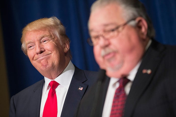 Trump with Sam Clovis in 2015.