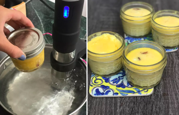 Bake eggs into creamy, soufflé-like breakfast cups using the sous vide method.