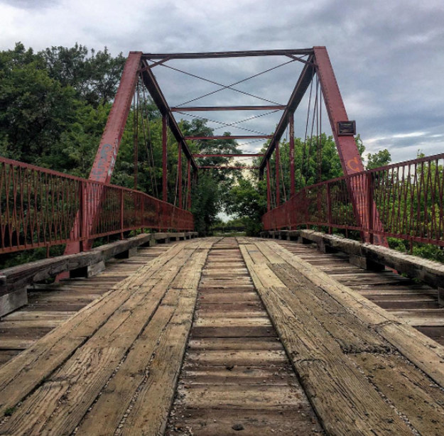 The bridge was built in 1884 to connect Alton to Denton, and has remained in place ever since.