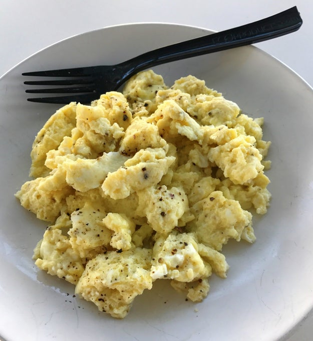 Make scrambled eggs in the microwave in two minutes flat.
