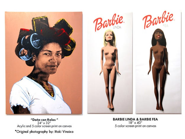One of Peralta's latest ventures? His Complejo (complejo means complex in Spanish) art series. It explores the issues and micro-aggressions Afro-Latinxs face within their own community.