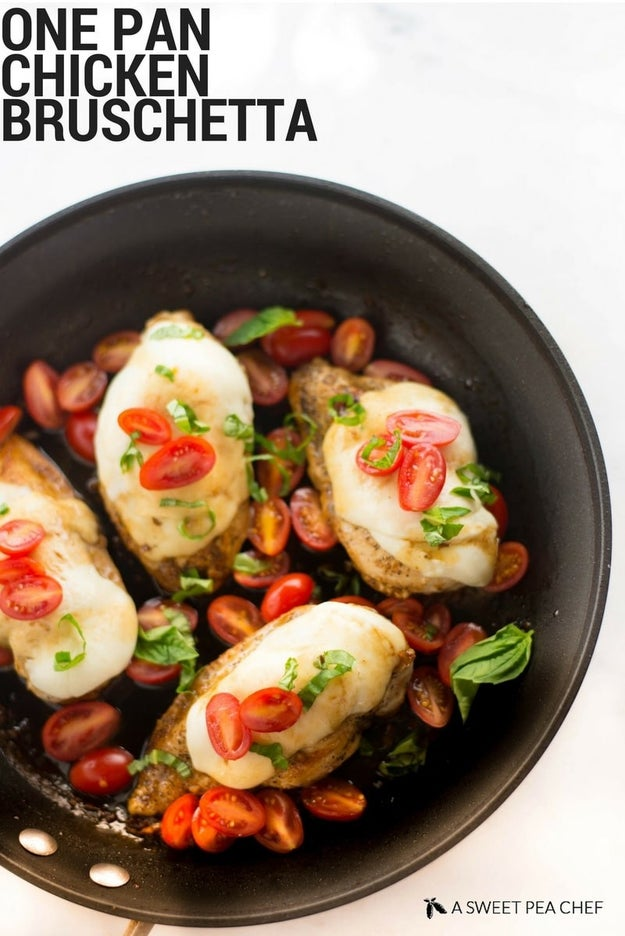 One-Pan Chicken Bruschetta