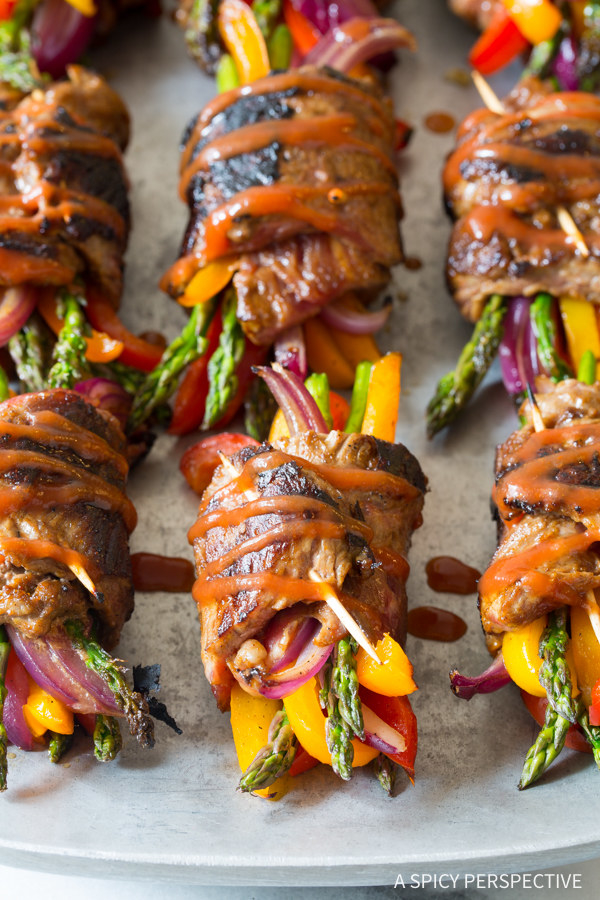Low-Carb Steak Fajita Roll-Ups