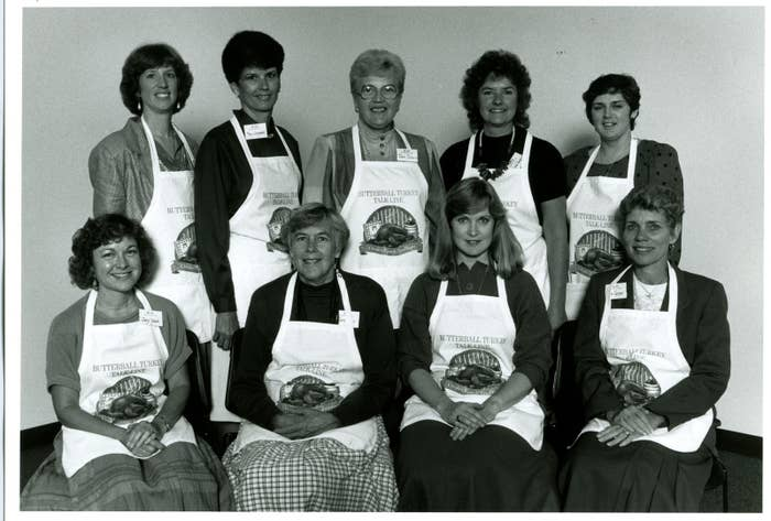 The Butterball Turkey Talk-Line staff in 1988. Miller is on the far left in the back row.