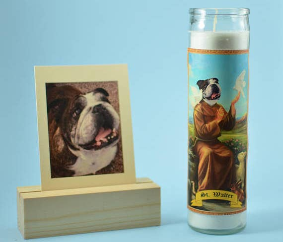 ac46f25a83 A prayer candle that ll turn their pet into the saint they already think  they are.