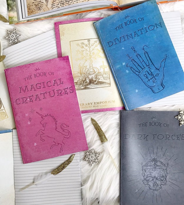 Subject notebooks to help differentiate between your notes. Divination and Magical Creatures, for example.
