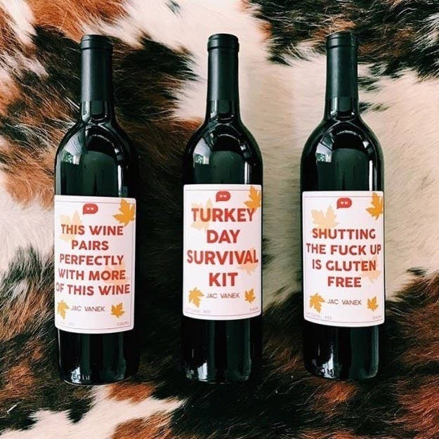 You really can't go wrong with a customized bottle of wine with a Wordy Wine label.