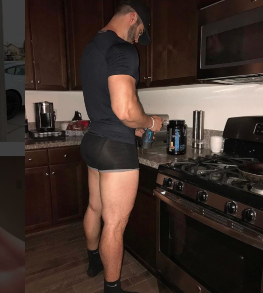 The time he made a protein shake, but all I could think of was his maple syrup*.