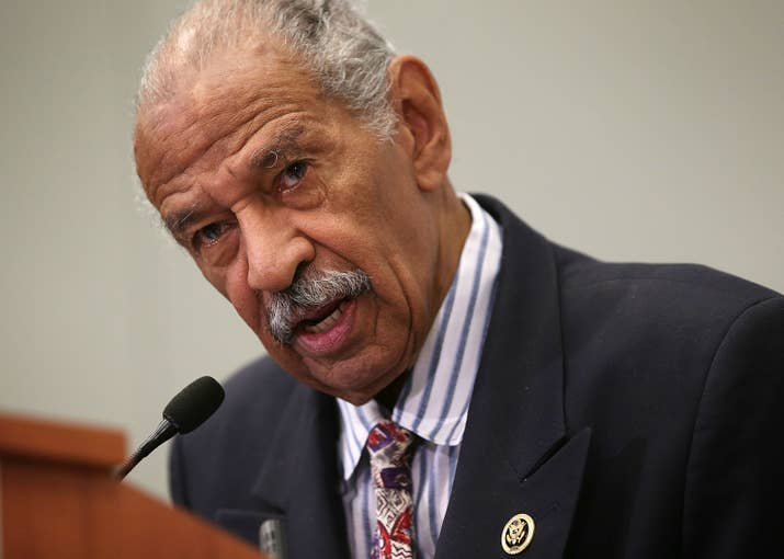 Rep. John Conyers speaks at the Congressional Black Caucus Foundation's 45th annual legislative conference, Washington, DC, September 18, 2015.