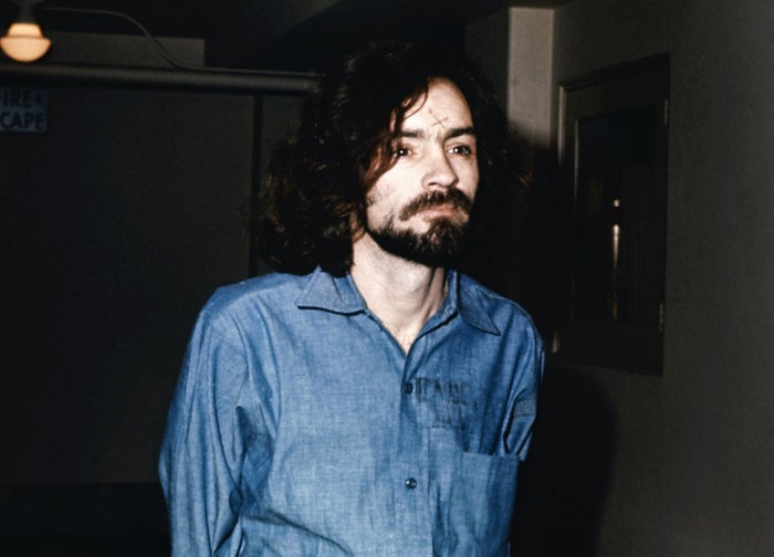 Charles Manson during his trial in an undated photo.