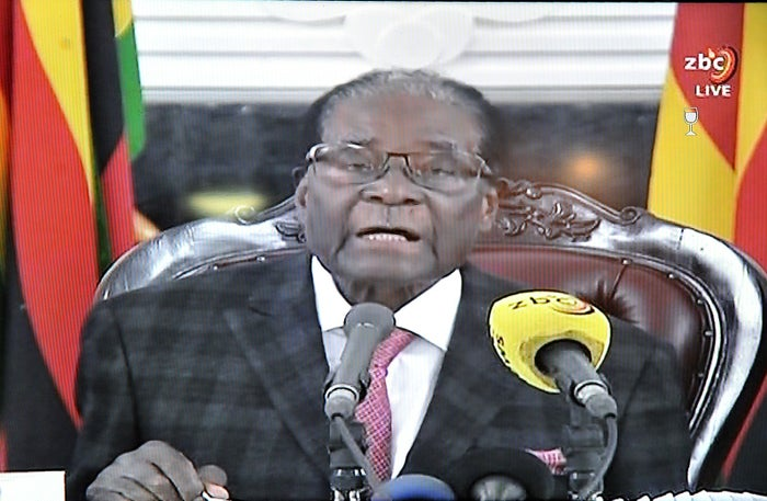 Mugabe delivered a speech on Sunday, stressing he was still in power.