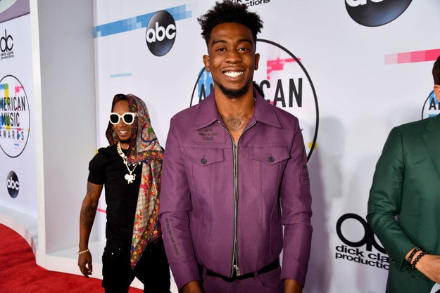 On Sunday, rapper Desiigner attended the 2017 American Music Awards in Los Angeles, California.