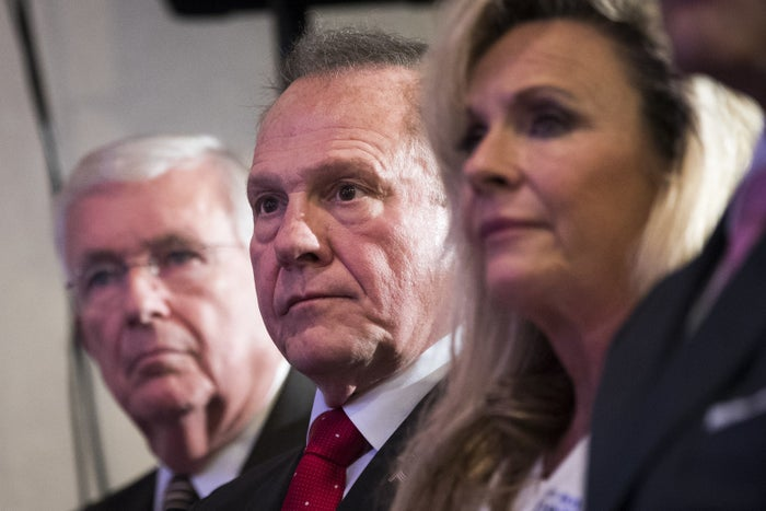 Republican candidate for US Senate Judge Roy Moore
