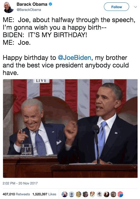 sub buzz 17504 1511280115 10?downsize=715 *&output format=auto&output quality=auto 18 times barack obama and joe biden were friendshipgoals
