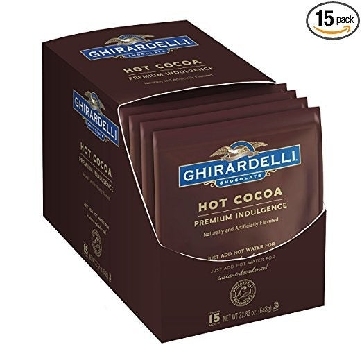 "This stuff is delish. Promising review: ""My family has a new favorite hot chocolate. I will definitely buy again. Very rich, and great flavor."" —JonPrice: $10.77"