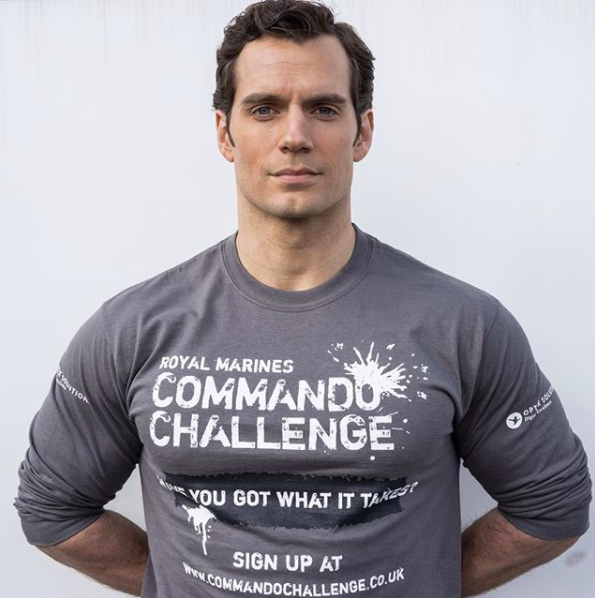 This is Henry Cavill. Not only is he a certified hottie biscotti with a naughty little body, he also plays Superman in the new Justice League film.