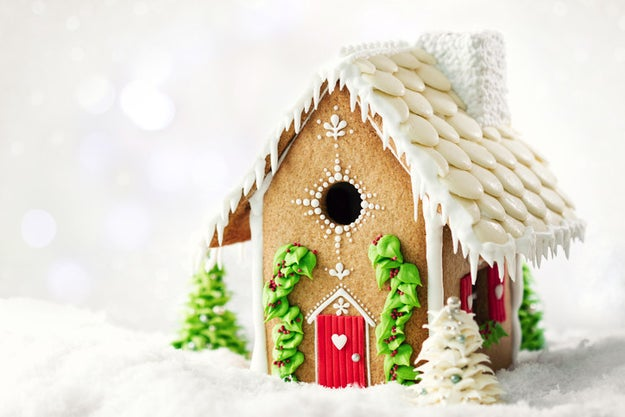 Build holiday gingerbread houses with your favorite candy.