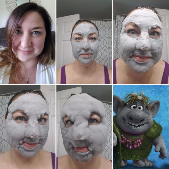 No, that's not a fungus, it's the gahtdamn face mask working its magical powers by transforming humans into Frozen trolls.