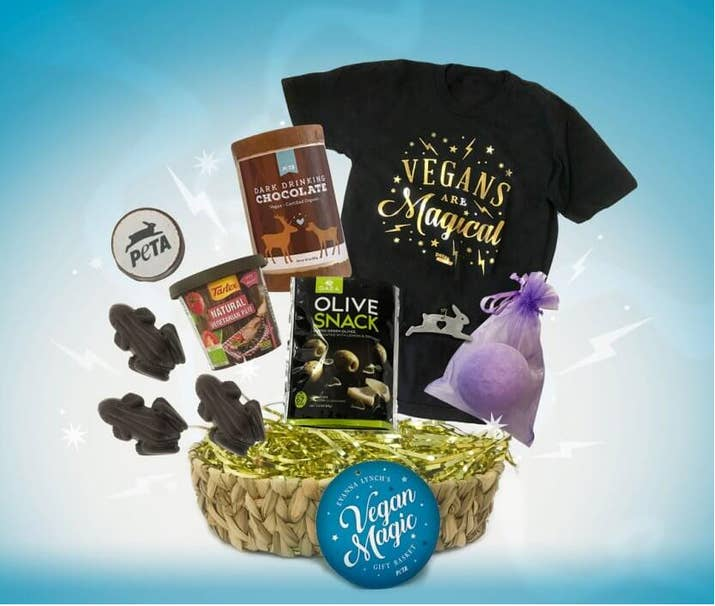 28 perfect gifts for the animal rights activist in your life the vegan magic gift basket that harry potter star and animal advocate evanna lynch created for peta solutioingenieria Images