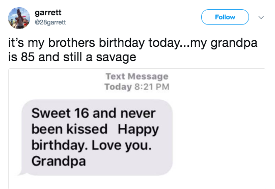 And this grandpa, who dragged his grandson on his birthday:
