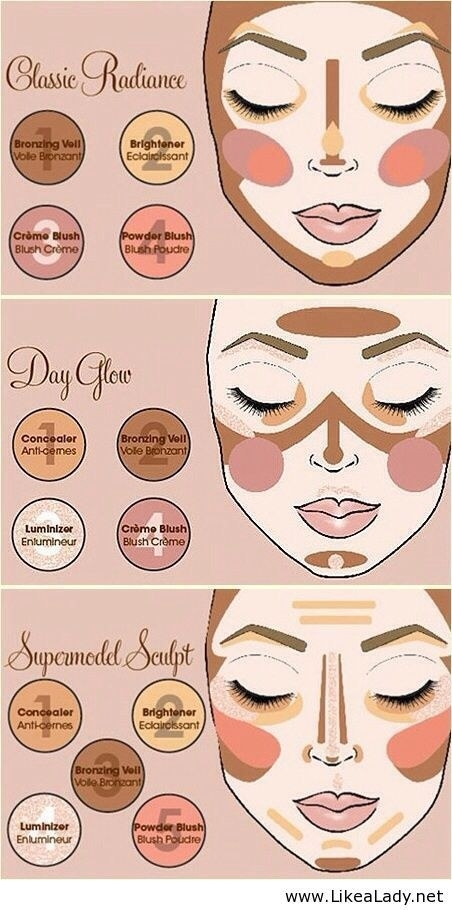 And if you want to take your contouring up a notch, here are a few variations on a theme.
