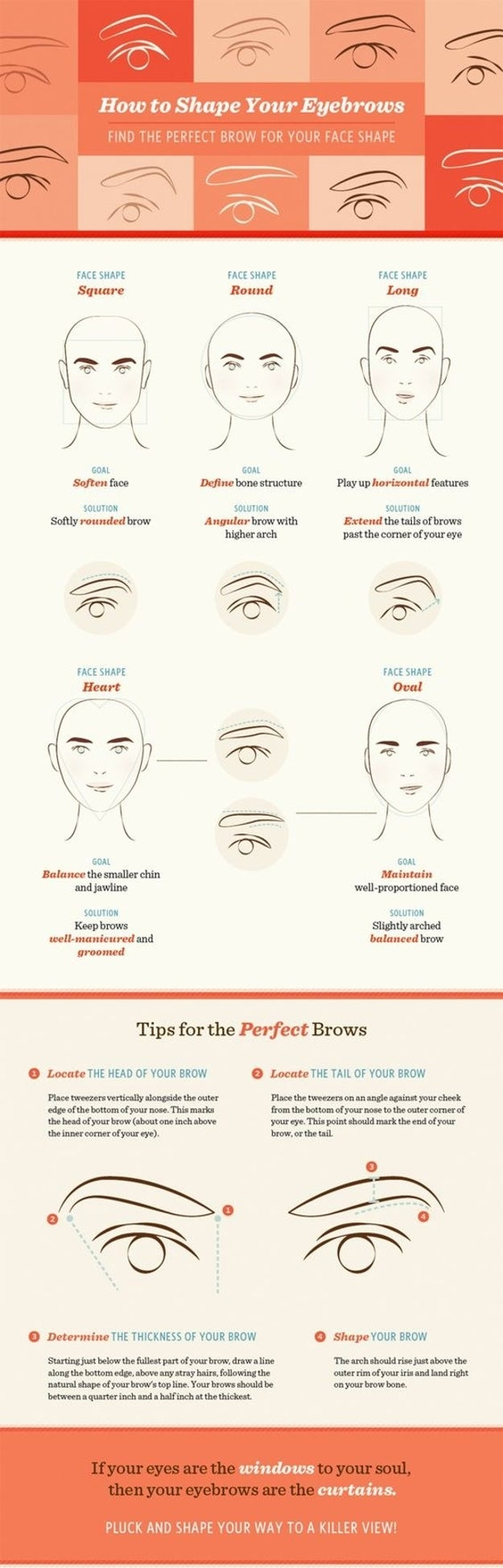 And while you're at it, make sure your eyebrow shape matches your face shape.