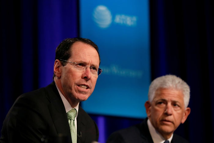 AT&T CEO Randall Stephenson speaks during a press conference in New York City, Nov. 20, 2017.