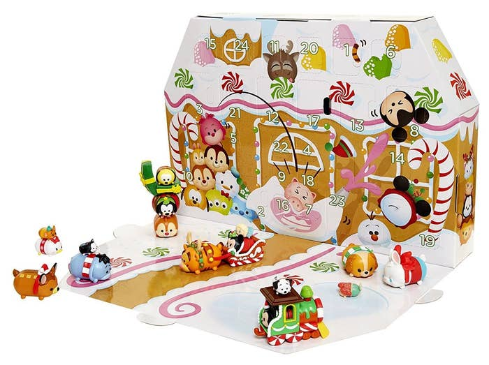 Includes 18 Tsum Tsum figures (6 large, 6 medium, and 6 small) in holiday attire, 6 holiday-themed accessories, and 6 seasonal head pieces.Get it from Amazon for $29.96.