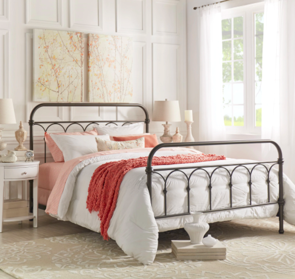 a metal and steel frame thatu0027ll make you feel like royalty even if you opted out of king or queen size