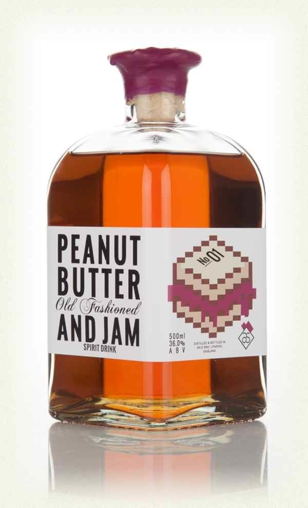 A bottle of prestige pre-mixed peanut butter and jam old fashioned that isn't made for sharing, sorry.