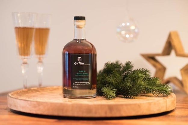 A bottle of Christmas Pudding gin that is the perfect festive digestif.
