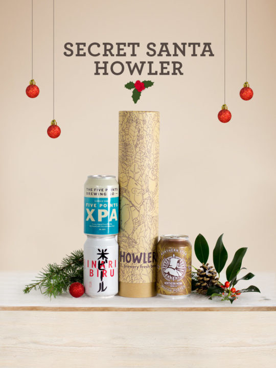 A Howler from Honest Brew that is one of best value alcohol gifts IMO.