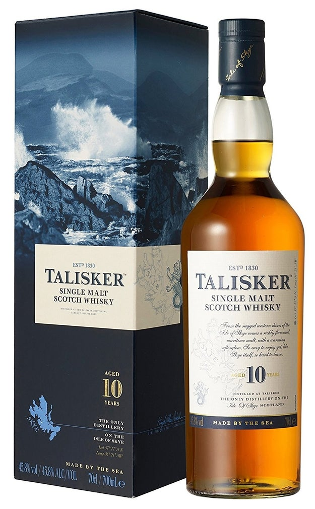 A bottle of 10 year old, single malt Talisker because why not?