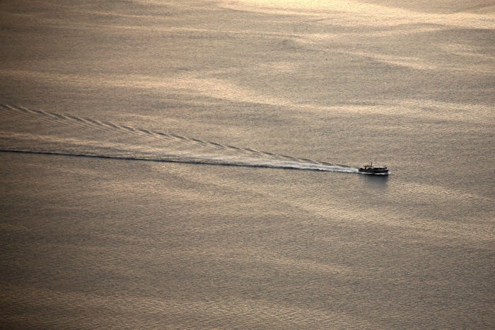 A fishing boat on the Chesapeake Bay in Maryland.