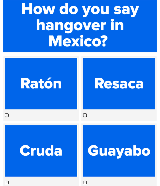 As if learning a language wasn't hard enough, Spanish is SOOO different in every country. Test how international your Spanish is with this quiz.