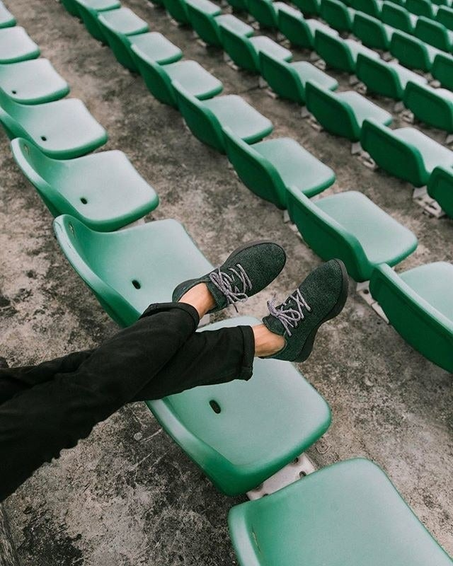 The fashion industry is a real drain on the environment. Shop these athleisure kicks made of responsibly-harvested wool here.