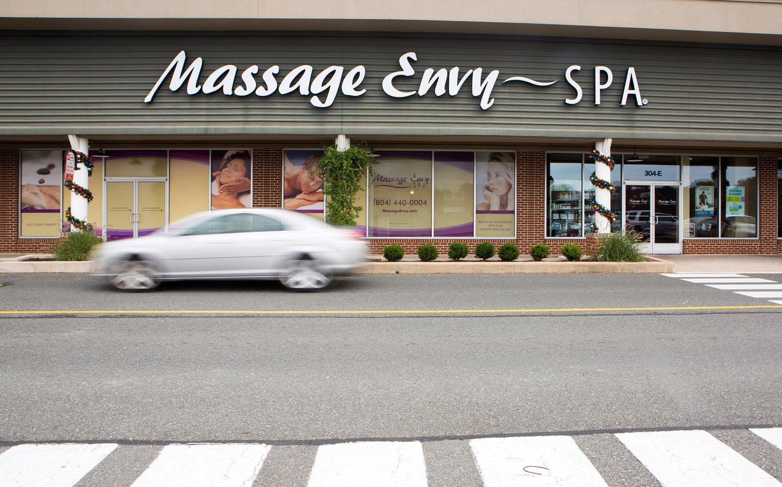 A Massage Envy storefront in Richmond, Virginia.