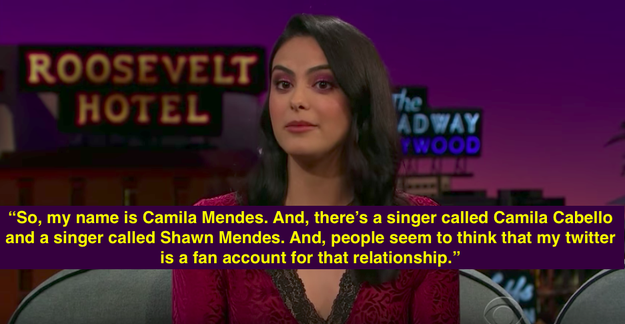 Well, last night on The Late Late Show with James Corden, Riverdale actress Camila Mendes revealed that she's actually been caught in the middle of their ~ship.~