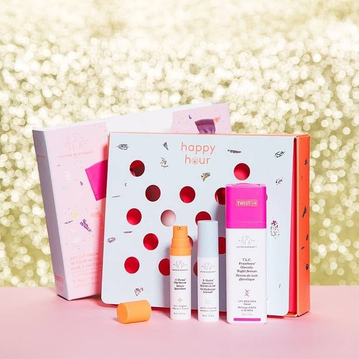 29 gifts you should probably just keep for yourself a drunk elephant gift pack with b hydra intensive hydration gel c firma day serum and tlc framboos glycolic night serum solutioingenieria Images