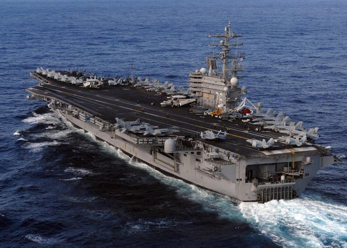 The aircraft carrier USS Ronald Reagan carried out search and rescue operations at the site of the crash for two days.