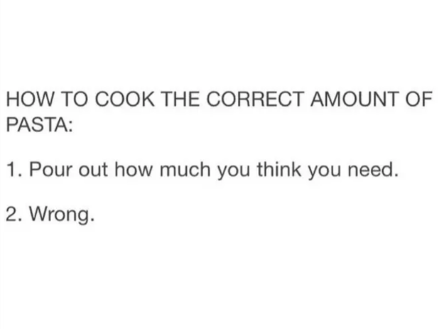 Cooking pasta: