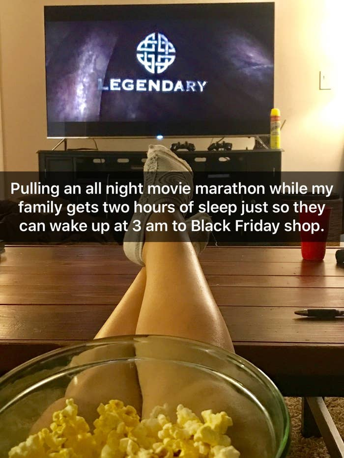 a1ea2d7f2 Now imagine yourself staying up until 3:15 a.m. on Black Friday watching  movies because you live for Cyber Monday.