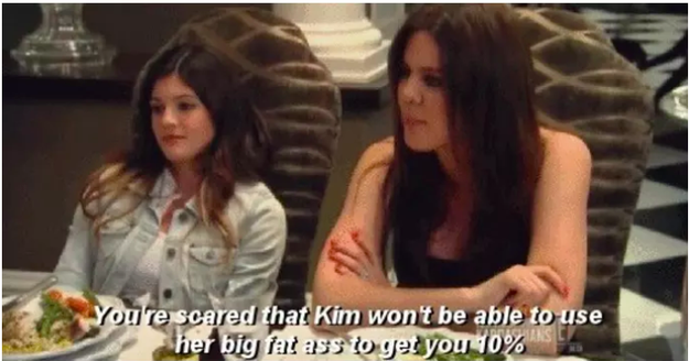 When Khloé had this response to the news that Kim had developed psoriasis.