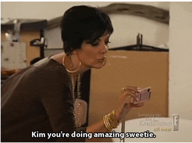 When Kris was on hand during Kim's Playboy photoshoot.